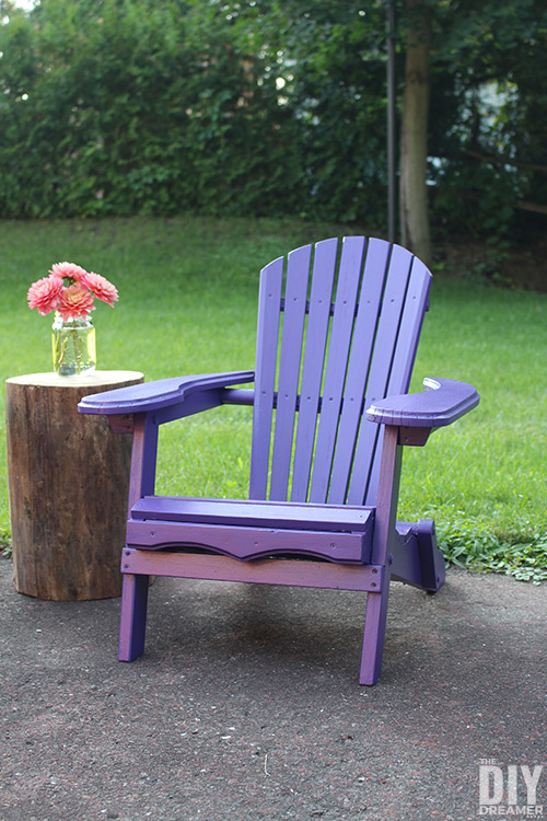 Adirondack Chair For Kids With Log Side Table ...