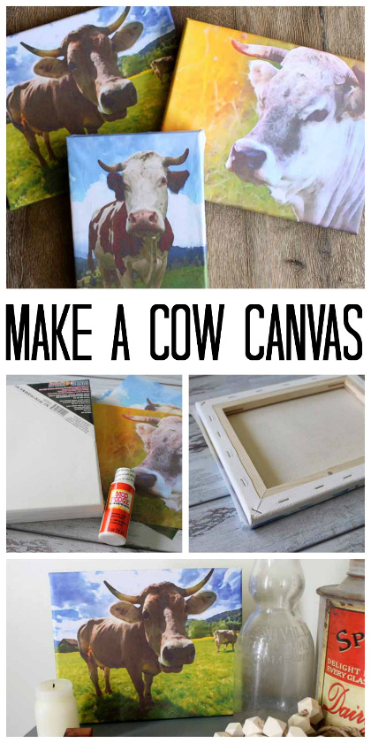 Cow Canvas: Print Art for Free