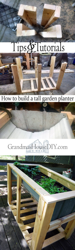 Tall Garden Planter on Wheels