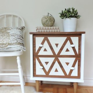 Beautiful side table transformation