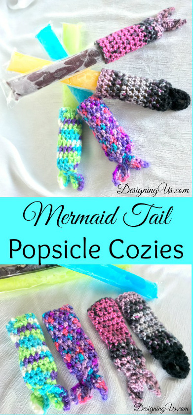 Mermaid Tail Popsicle Cozy