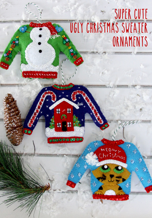 Ugly Christmas Sweater Ornaments Kit