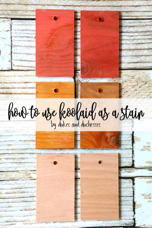 How to Use Koolaid as a Stain. DIY Stain