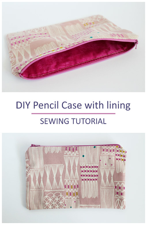Back to school sewing project: How to sew a pencil case