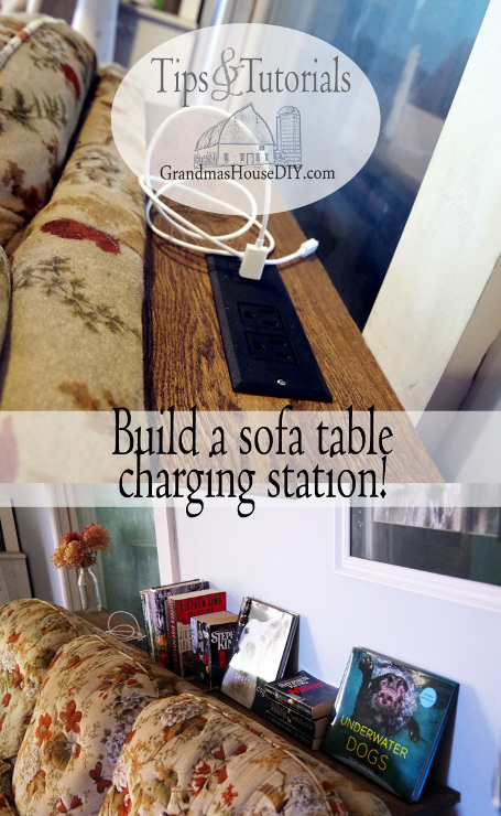 Console Table Charging Station for Behind a Couch