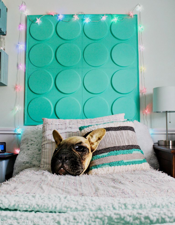 DIY 3D Wall Panels Headboard