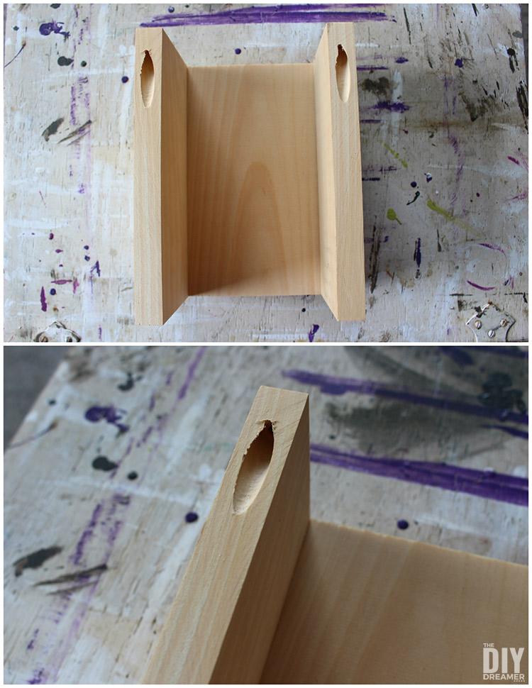 DIY Keyhole Hanger