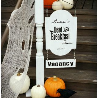 DIY Dead & Breakfast Inn Sign