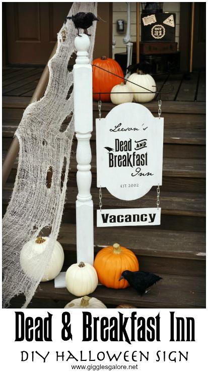 DIY Dead & Breakfast Inn Sign