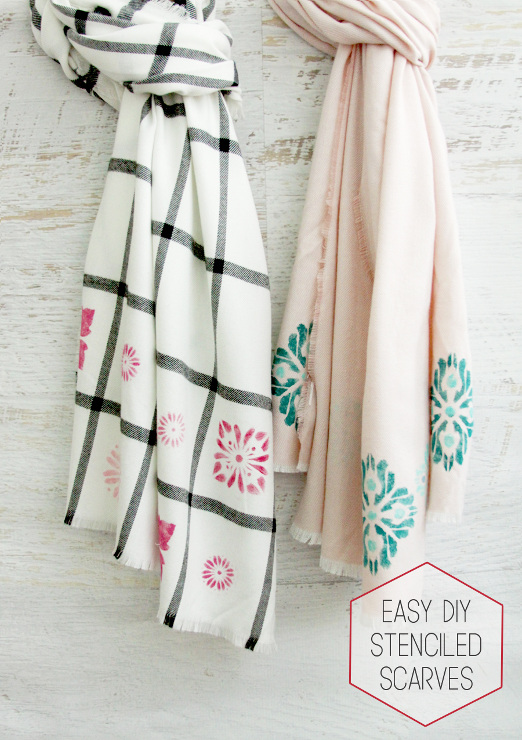 http://www.flamingotoes.com/2017/08/easy-diy-stenciled-scarves/