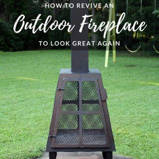 How to revive an Outdoor Fireplace that is full of rust. How to make a fireplace look great again.