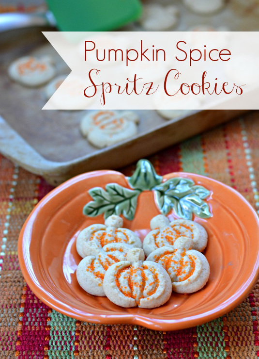 Pumpkin Spice Spritz Cookie Recipe