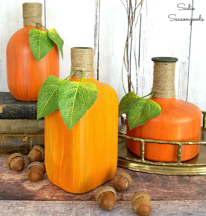 Bourbon Bottle Pumpkins & Gourds