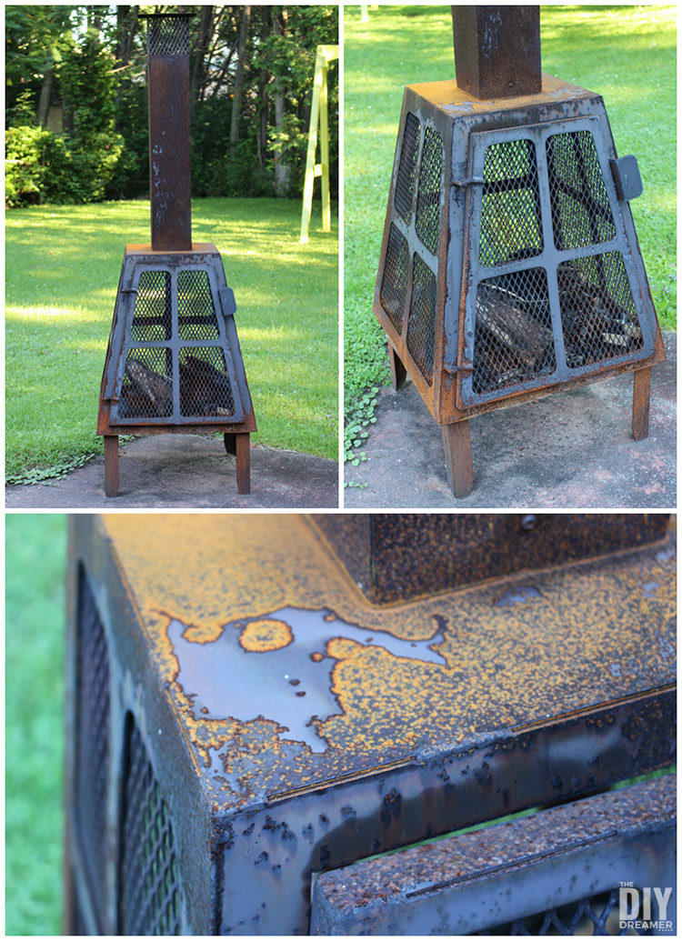 How to fix a rusty outdoor fireplace