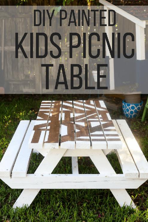 DIY Kid Picnic Table