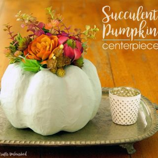 DIY Pumpkin Decor Centerpiece. Succulent Pumpkin