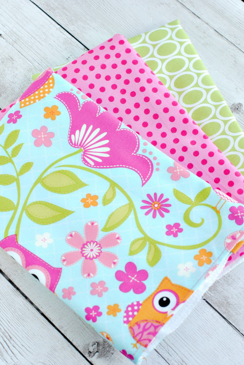 Easy Baby Burp Cloths, great sewing tutorial for beginners.