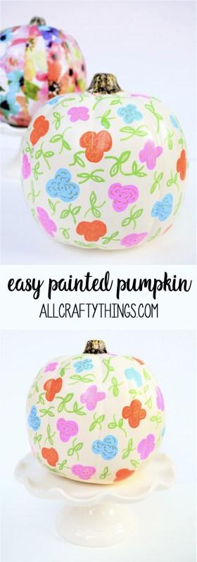 Painted Pumpkin Idea {Easy Sharpie-Painted Pumpkin}
