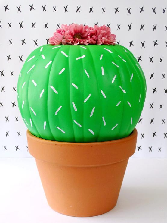 DIY Cactus Pumpkin