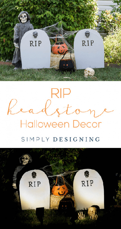 DIY RIP Headstone Decoration