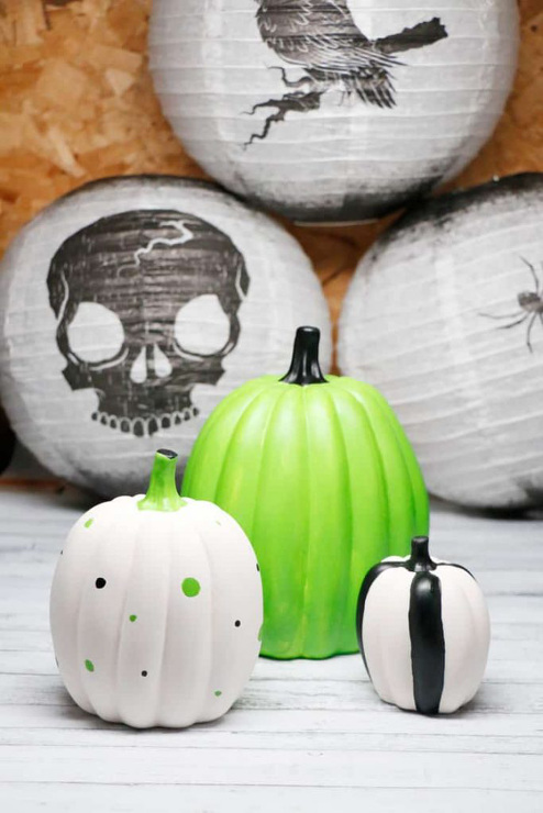 Painted Pumpkin Decorating DIY