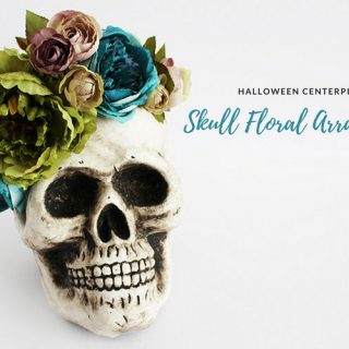 Halloween Centerpiece – DIY Skull Floral Arrangement