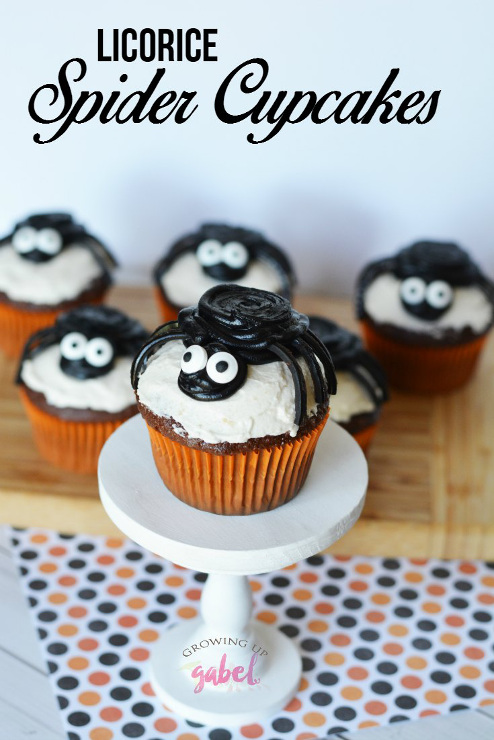 Licorice Spider Cupcakes