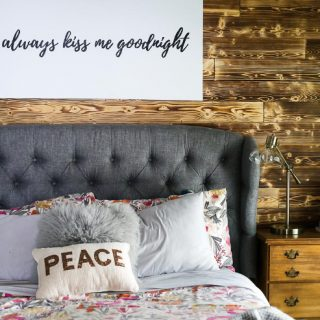 DIY Wood Planked Accent Wall