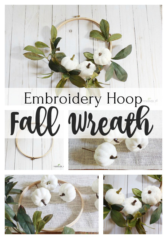 Embroidery Hoop Fall Wreath