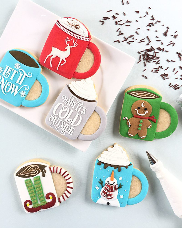 Christmas mug sugars cookies. Too cute to eat!