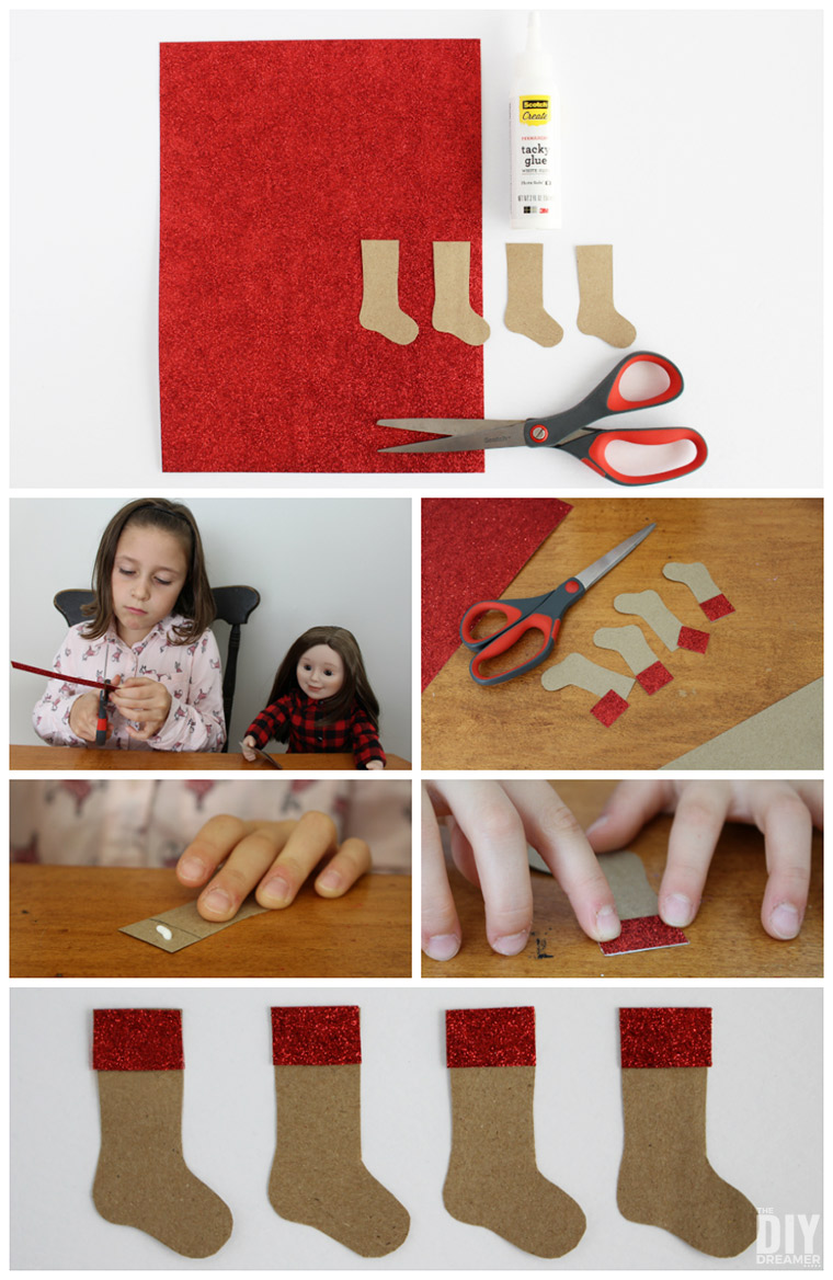 DIY Paper Christmas Stockings
