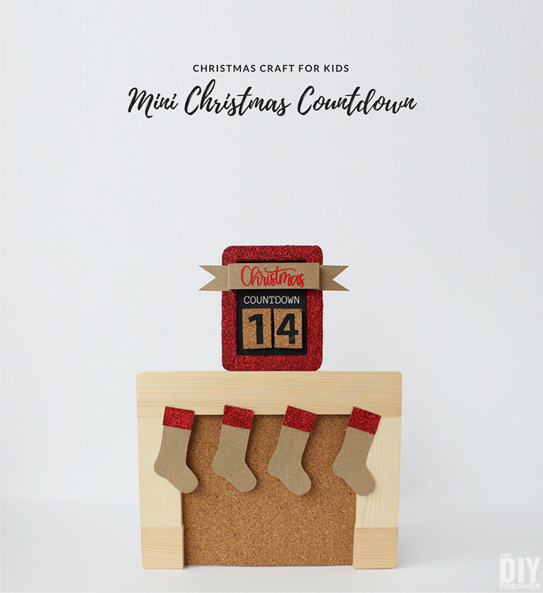 DIY Mini Christmas Countdown. This Christmas kids craft is a fun way for kids to count the days until Christmas. It's the perfect size for them to display on their dresser