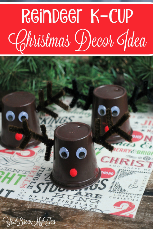 Reindeer K-Cup Christmas Decor Idea