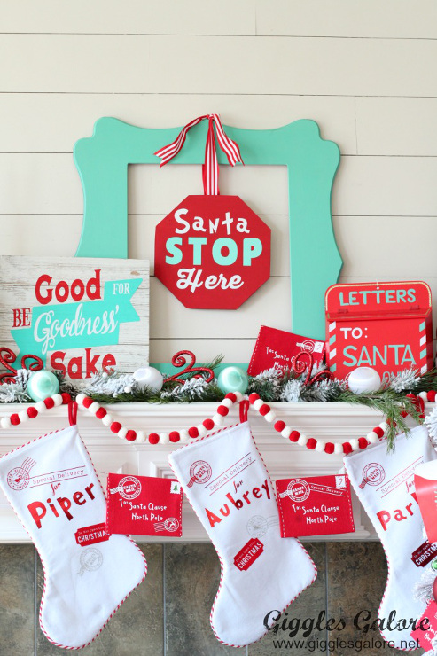 Whimsical North Pole Christmas Mantle