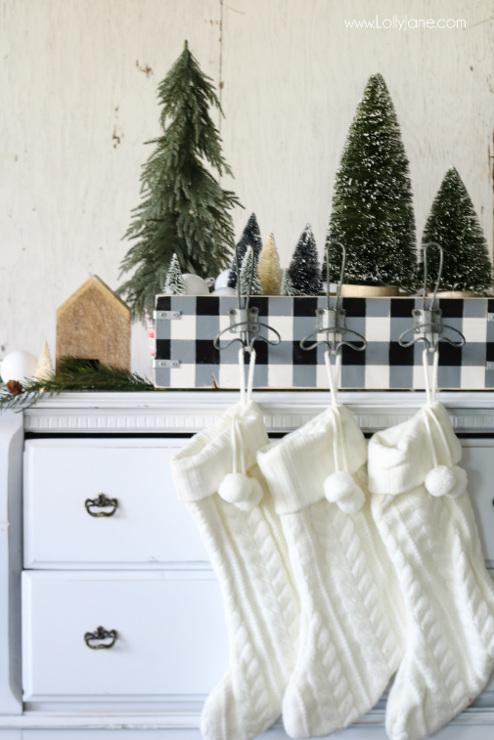 DIY Stocking Holder