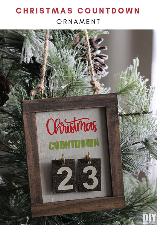 DIY Christmas Countdown Ornament. This ornament is so fun to make that you will want to make a bunch to give to your family members. Such a unique way to count days till Christmas.