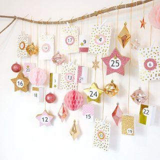 DIY Pink & Copper Advent Calendar