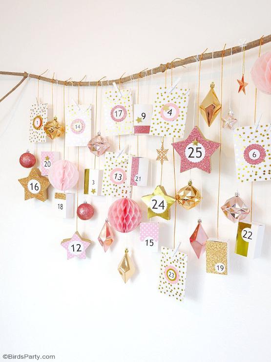 DIY Pink & Copper Advent Calendar