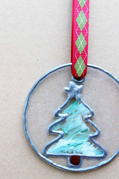 Faux Stained Glass Christmas Ornament