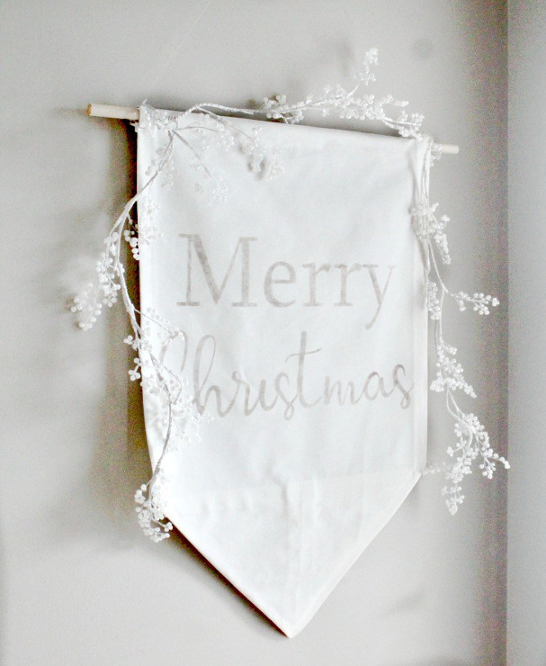 DIY Merry Christmas Banner