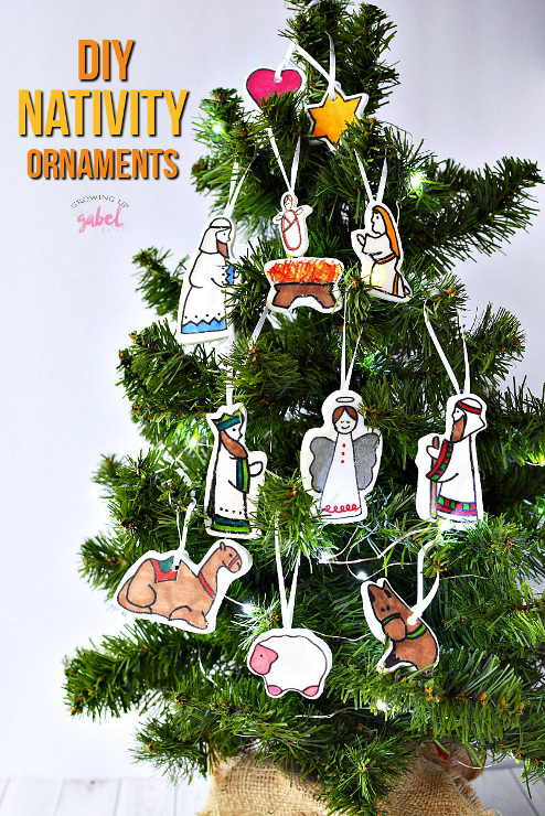DIY Nativity Christmas Ornament Crafts for Kids