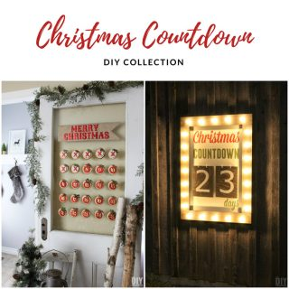 A collection of DIY Christmas Countdowns that you can make. Fun ways to count the days until Christmas.