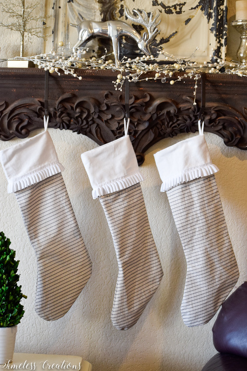 DIY Ticking Stripe Stocking