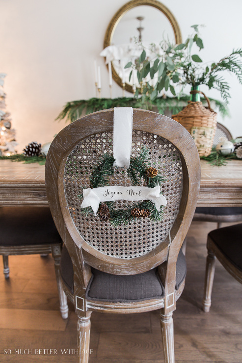 DIY Evergreen Wreaths and Fabric Banners