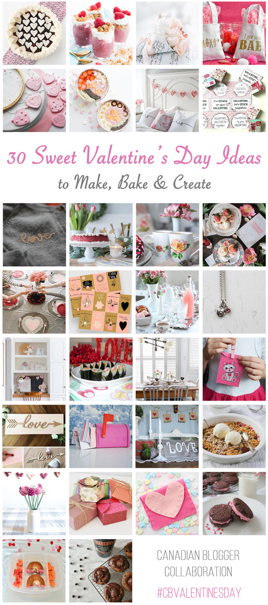30 Valentine's Day Ideas to Make, Bake, and Create. So much Valentine's Day inspiration!