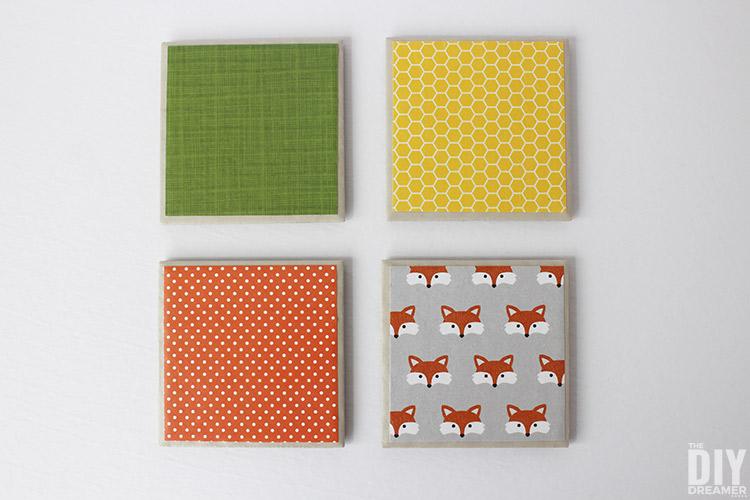 Fun Fox Coasters! Easy to make DIY Fox Tile Coasters!