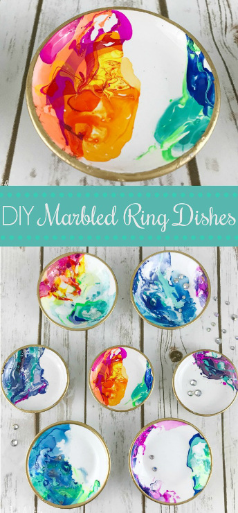 DIY Marbled Ring Dishes