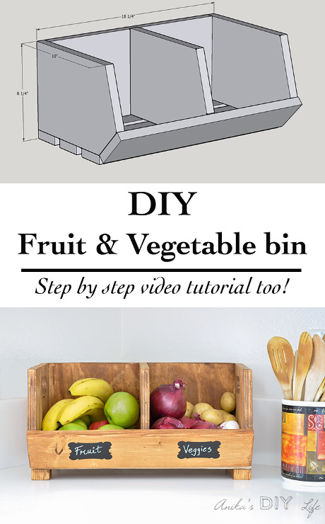 DIY Fruit & Vegetable Bin