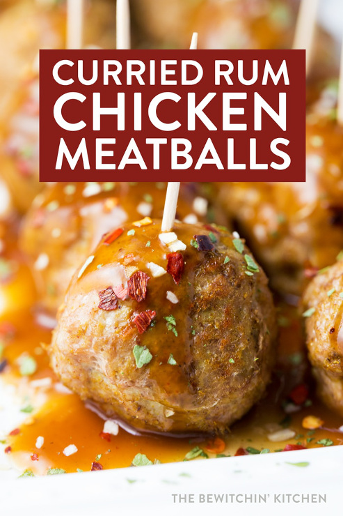 Curried Rum Chicken Meatballs