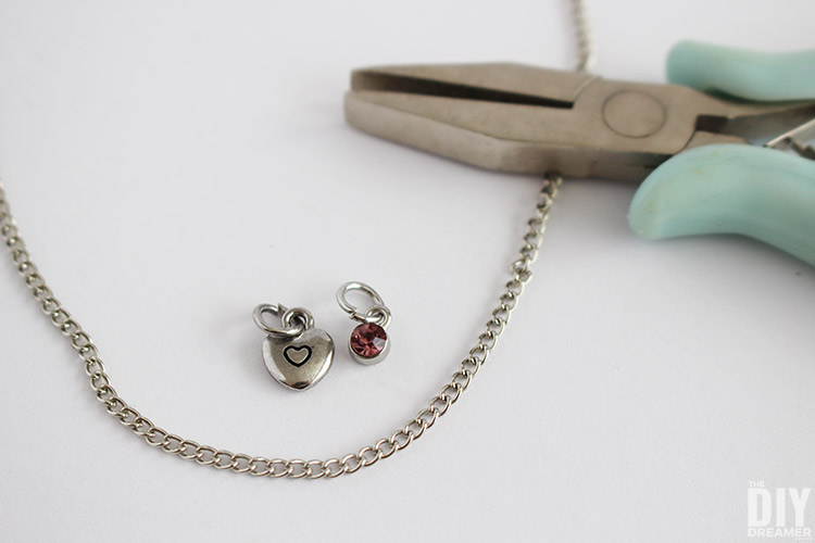 How to attach charms to a chain